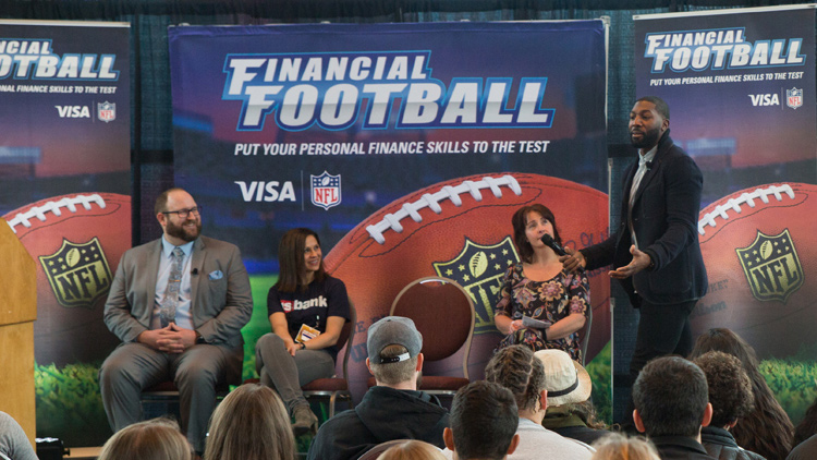Former NFL Pro Bowler and Super Bowl Champion Greg Jennings Plays Visa's Financial Football